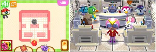 amiiboカードで動物たちを招く