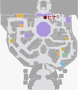 黒服ケンシロウの開始場所マップ