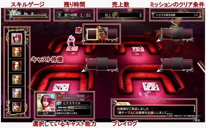 黒服ケンシロウの営業中のゲーム画面