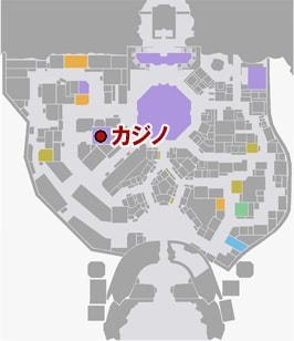 カジノの場所マップ