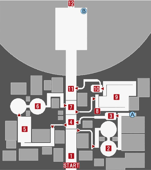 スフィア・シティの攻略マップ