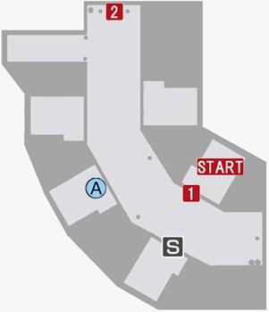 地下牢の攻略マップ