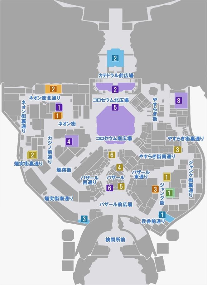 エデンのマップ