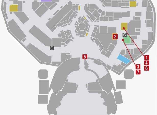 サイドミッション1『荒野の足を求めて』の攻略マップ
