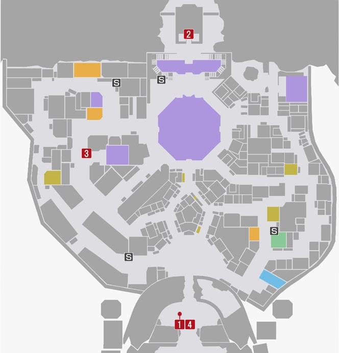 サイドミッション12『最後の願い』の攻略マップ