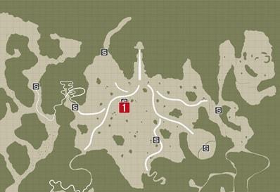 サイドミッション13『デス・バッティング開幕!!』の攻略マップ