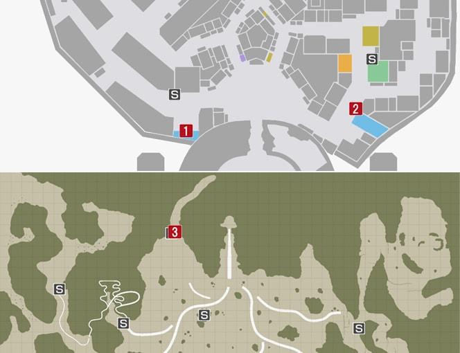サイドミッション18『ユリア目撃情報?』の攻略マップ