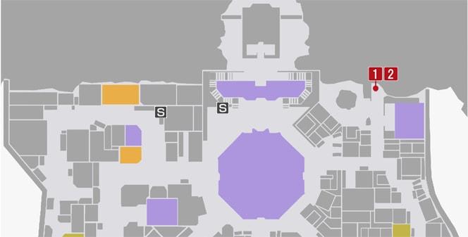 サイドミッション2『希望の木』の攻略マップ