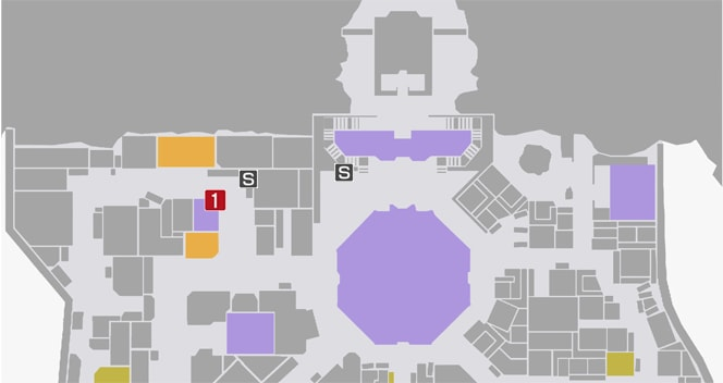 サイドミッション22『「楽しみ」を売る店』の攻略マップ