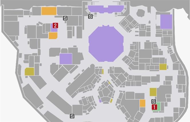 サイドミッション23『蘇りし名作』の攻略マップ