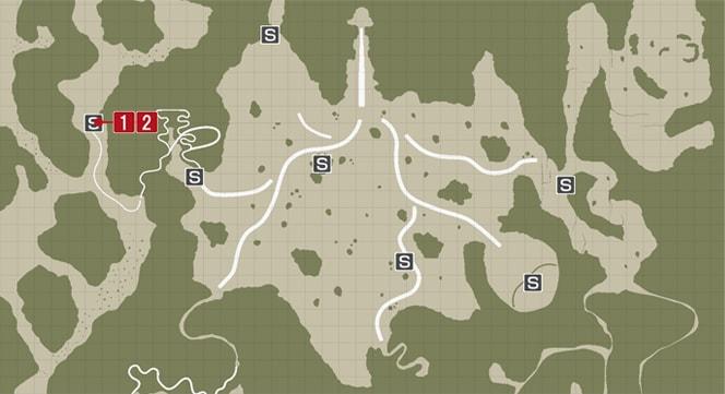 サイドミッション25『老人の夢』の攻略マップ