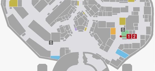 サイドミッション29『カンナからの挑戦状』の攻略マップ