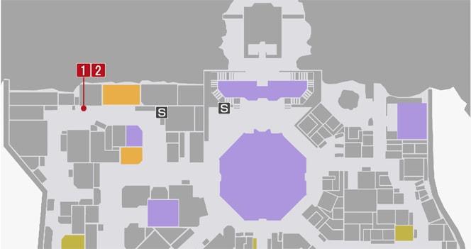 サイドミッション33『最速の座をかけて』の攻略マップ