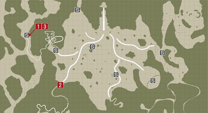 サイドミッション34『閉ざされた道』の攻略マップ