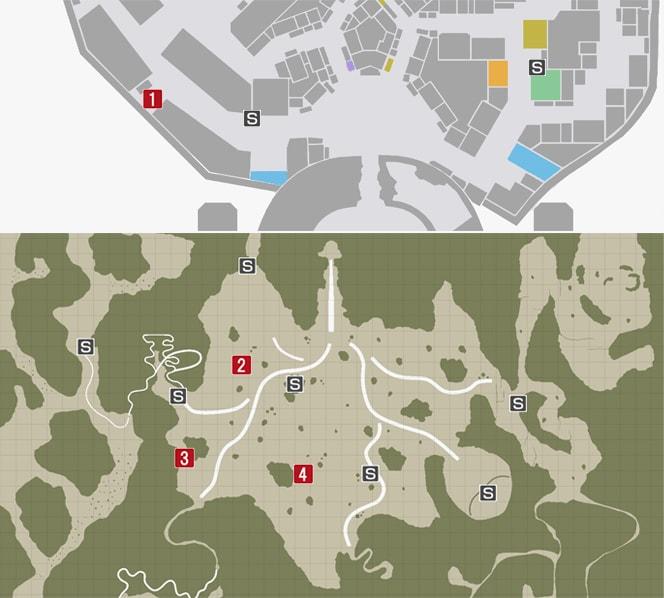 サイドミッション36『遭難者を救え』の攻略マップ