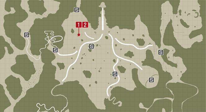 サイドミッション39『一車相伝』の攻略マップ
