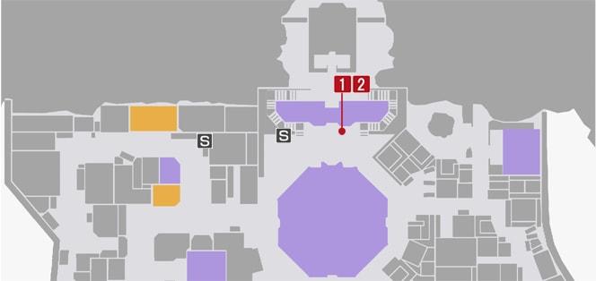 サイドミッション44『ブライト襲来』の攻略マップ