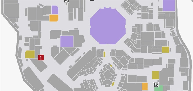 サイドミッション5『暴力のない世界』の攻略マップ