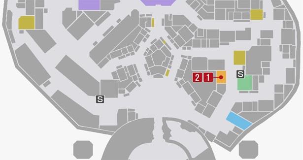 サイドミッション64『生涯現役』の攻略マップ