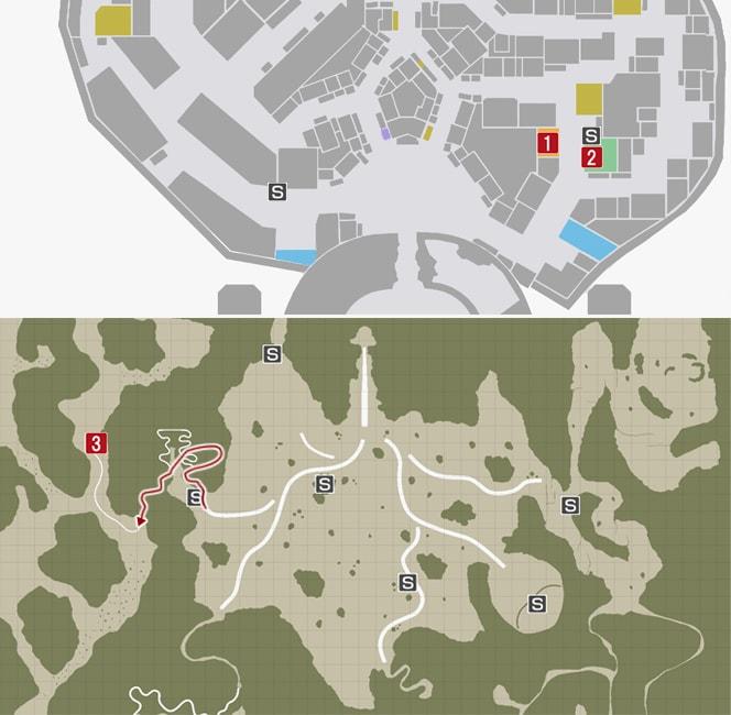 サイドミッション58『幸せの場所』の攻略マップ