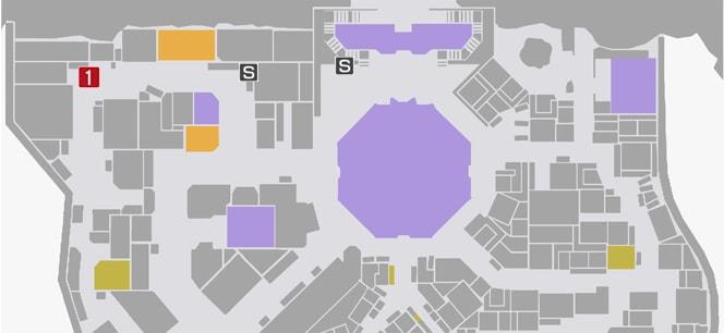 サイドミッション66『連続通り魔』の攻略マップ