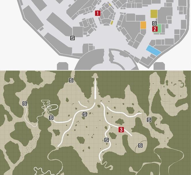 サイドミッション67『裏切りの商人、ザムザ』の攻略マップ