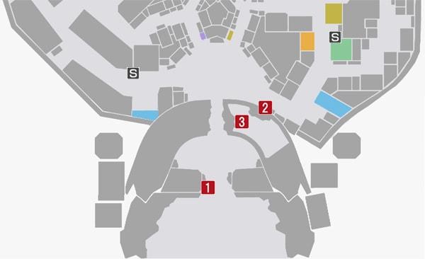 サイドミッション68『ジャグレ暗殺計画』の攻略マップ