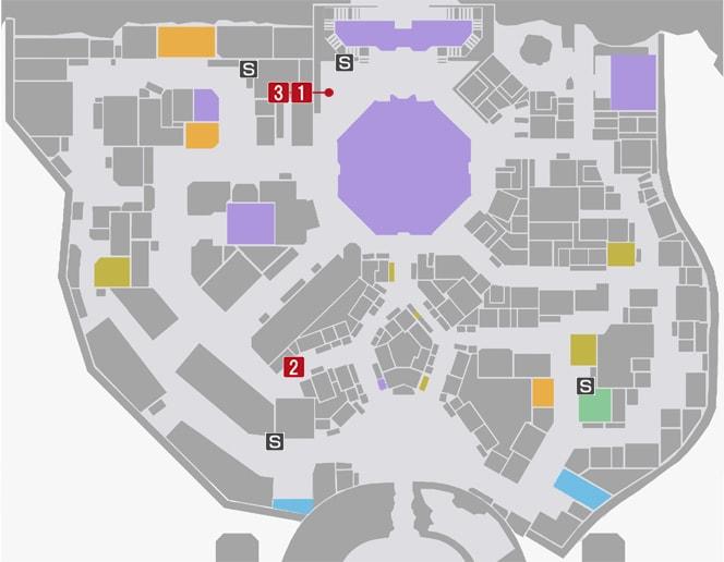 サイドミッション7『世紀末3秒クッキング』の攻略マップ