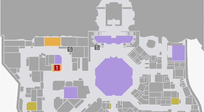 サイドミッション70『謎の犯罪者狩り』の攻略マップ