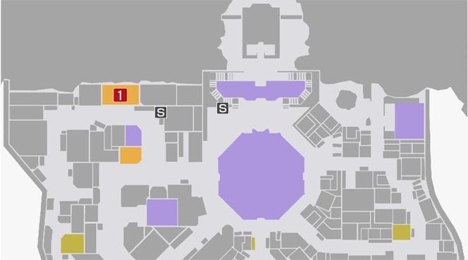 サイドミッション71『食い逃げ犯』の攻略マップ