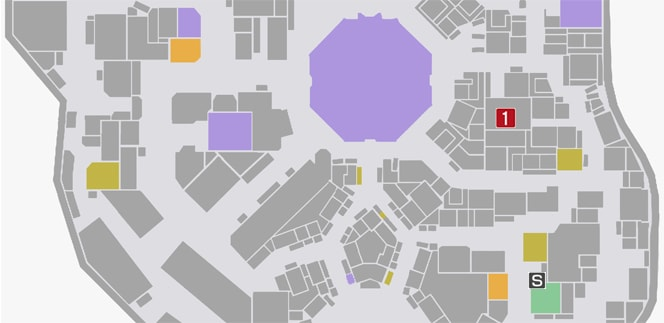 サイドミッション73『歪められた正義』の攻略マップ