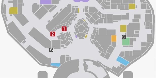 サイドミッション75『化粧師』の攻略マップ