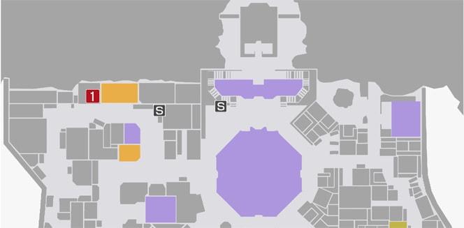 サイドミッション76『命喰らう鬼』の攻略マップ