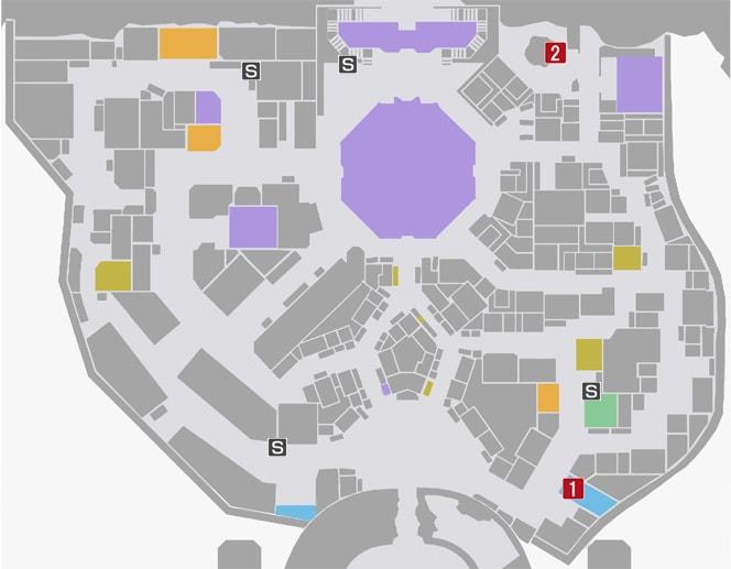 サイドミッション78『達人からの挑戦状』の攻略マップ