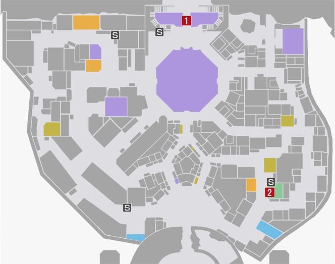 サイドミッション79『暗殺者からの挑戦状』の攻略マップ