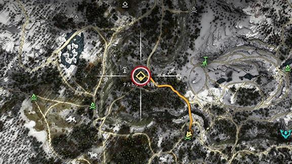 サイドクエスト『シャーマンの道』のマップ