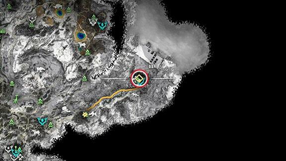 サイドクエスト『ファイアブレイク』のマップ