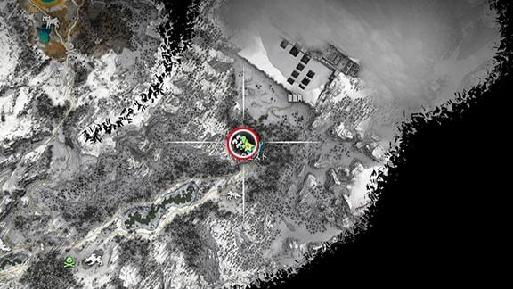 サブクエスト『武器改造:フォージファイア』のマップ