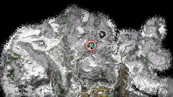 サブクエスト『イクリーの試練』のマップ