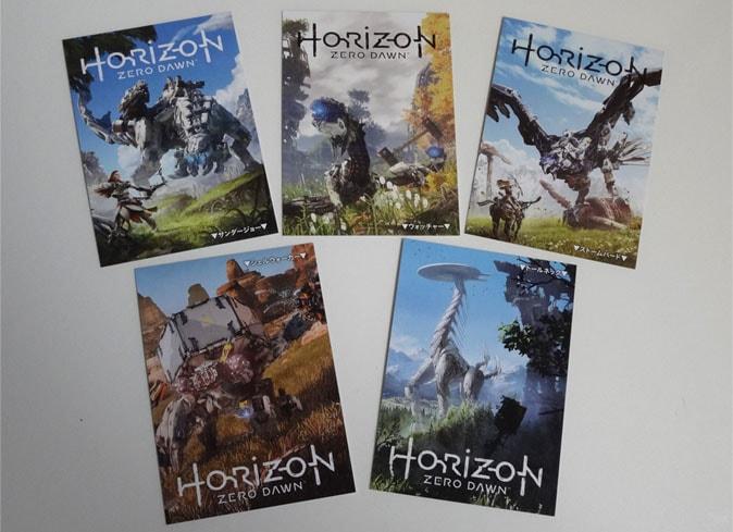 全5種類ホライゾンゼロドーンのカード