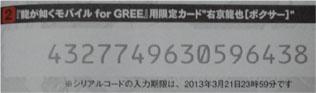 クロヒョウ2のGREEのパスワード