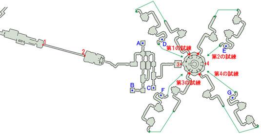 ルクセリオ大聖堂のマップ