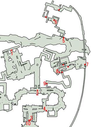 2-1:潜入大作戦のマップ