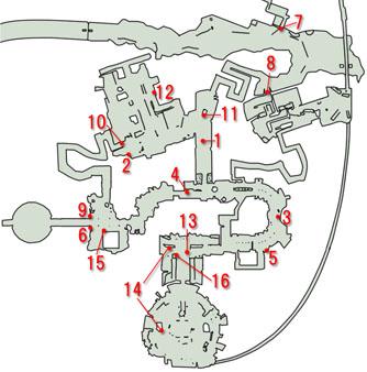 ユスナーンのサイドクエストのマップ