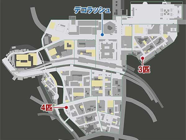 異人町の猫の居場所マップ