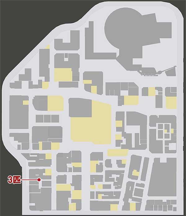 神室町の猫の居場所マップ