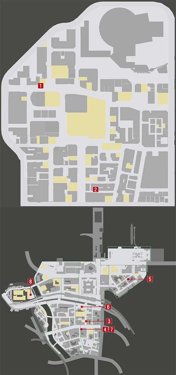 チャプター1『群れの裏切者』の攻略マップ