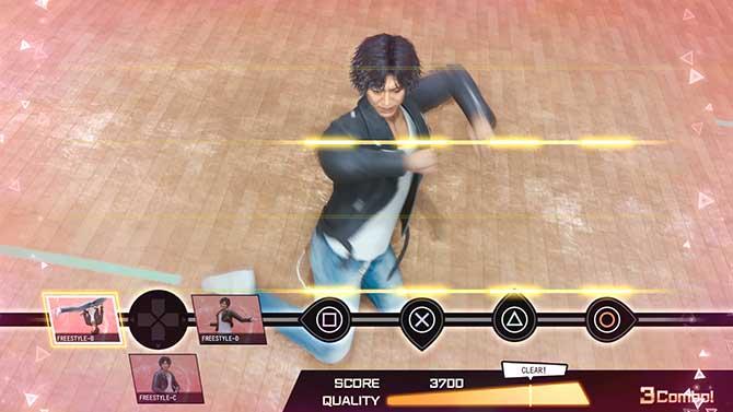 ダンスゲームのEX振付け発動の様子