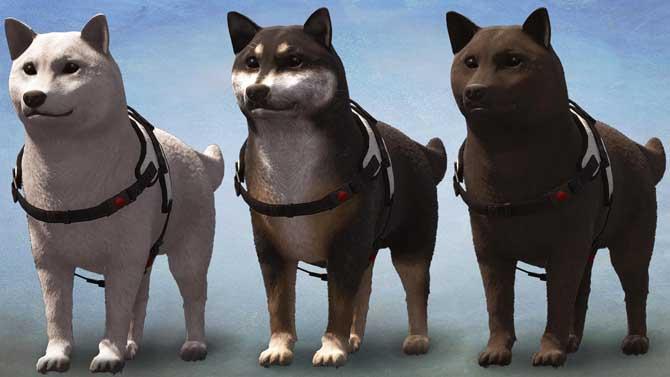 ロストジャッジメントの探偵犬の毛色チェンジ『白』『黒』『サビ』