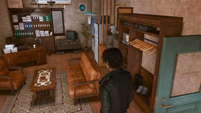 八神探偵事務所の内装